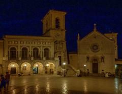 Ricordo di Norcia (giorgiorodano46) Tags: agosto2012 august 2012 giorgiorodano norcia umbria italy piazzasanbenedetto notturno bynight nocturne night church piazza square