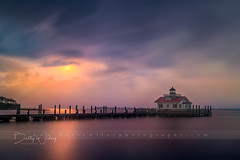 Manteo Light - explored (betty wiley) Tags: manteo lighthouse fog sunrise b bettywileyphotography outerbanks northcarolina dock coast
