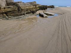 Lines of Rocks and Sand (Filmstalker) Tags: mobile rocks lines converginglines coast sea
