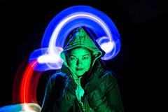 Eva (Aida Ros) Tags: photography night light lightpainting lights rbg long exposure nau green dark contrast hars clarity lightroom photoshop