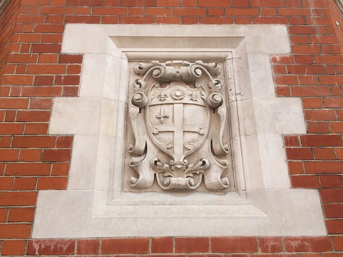 Arms of the City of London on Hertford's Christ's Hospital
