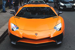 Sunday Morning (Beyond Speed) Tags: lamborghini aventador sv superveloce supercar supercars car cars carspotting nikon automotive automobili v12 orange spoiler carbon london mayfair supercarsunday
