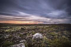 It's a new day in Iceland (Fabio Todeschini ) Tags: iceland islanda alba sunrise landscape land sea seascape sun light island islandese cloudy clouds longexposure nikon d3100 sigma haida filter nd nd1000 fabiotode ocean panorama green red grey