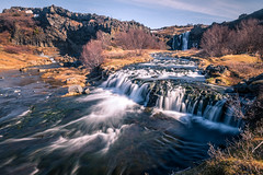 Waterfalls in Gjain - Iceland - Travel photography (Giuseppe Milo (www.pixael.com)) Tags: trees hike landscape gjain travel nature water outdoor hiking waterfall iceland rocks southernregion is onsale
