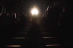 Holy (Marta Marcato) Tags: light silhouette people sun church italy italia verona nikond7200 black holy girl luce sole persone chiesa nero ragazza buio dark