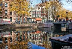 Reflections on the Kloveniersburgwal, Amsterdam (PhotosToArtByMike) Tags: kloveniersburgwal amsterdam netherlands reflections oldcentre dutch holland centrum centrecity medieval canal nieuwmarkt amstelriver