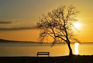 Golden sunset, Lough Melvin.