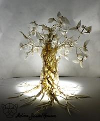 "Lignum Vitae ""enlightened"" (Yureiko) Tags: yureiko tessellation papierfalten papier art kunst origami paperfolding paper 折り紙 おりがみ shiborigami"