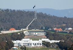 Parliament House - Visit Canberra (publicdomainphotography) Tags: act activity anzac architecture attraction australia australian avenue blue building canberra capital car city commonwealth day daytime destination famous federal flag govern government highway hill house landmark landscape lane memorial museum new old parade parliament place politics road sky square street territory tourism traffic travel view war
