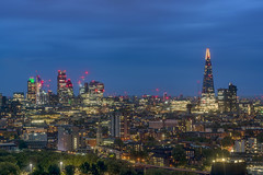 London Town Tonight (JH Images.co.uk) Tags: london hdr dri bluehour night clouds shard city skyscrapers skyline cityscape