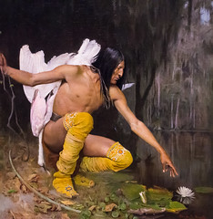 The Indian and the Lily (Pejasar) Tags: theindianandthelily oiloncanvas georgedeforestbrush painter 1887 apache poeticworkinoil swan lily florida bentonville arkansas crystalbridges artmuseum gallery