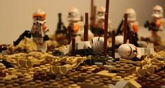 The dead clones | Lego Massacre on Sarrish | The Clone Wars (h2brick) Tags: lego legostarwars legovehicle clone clonewars battle starwarstheclonewars star starwars side wars commander cody commandercody