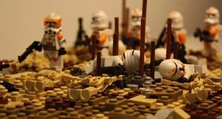The dead clones | Lego Massacre on Sarrish | The Clone Wars
