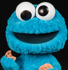 Cookie! (jeff's pixels) Tags: macromondays macro eyes closeup view nikon d750 funko cookie monster funny silly