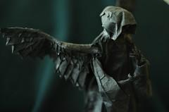 Fallen Angel by Yoshimasa Tsuruta (Nikita Vasiliev) Tags: origami paper paperart origamiart hobby angel fallenangel wings hands hood yoshimasatsuruta pain fall