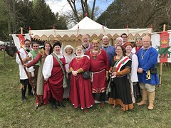 The Crew at the Siege of Talonval (Drowsy Mary) Tags: michigan coldwater talonval 051317 pat mary william isolde sca