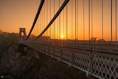Early morning sunrise at the Clifton suspension bridge (technodean2000) Tags: the clifton suspension bridge spanning picturesque avon gorge is symbol city bristol for almost 150 years this grade i listed structure has attracted visitors from all over world its story began 1754 with dream wine merchant who left legacy build england uk nikon d5200 lightroom night landscape architecture outdoor skyline building infrastructure water dusk serene d610 colour color sky black background sunrise river