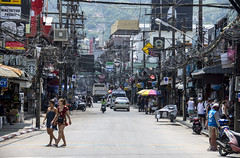 phuket (patong) (Greg Rohan) Tags: thailand patongbeach patong phuket cables powerlines wires photography 2017 d7200 people city street shops travel