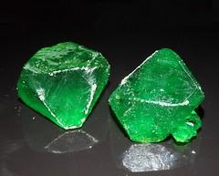 Sodium Potassium Ferri-trioxalate Crystals: 2nd Crystallization (someHerrings) Tags: sodium potassium ferri trioxalate crystals