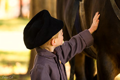 Tender touch (Irina1010) Tags: boy timeperiod touch tender horse hat reenactment barringtonhall moment canon
