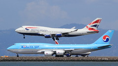 (A Sutanto) Tags: sfo ksfo san francisco international airport boeing b747 b744 b748 ke korean air british airways hl7630 runway landing take off plane spotting aviation airlines airliner airliners jumbo jet