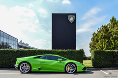 Special Parking (Beyond Speed) Tags: lamborghini huracan supercar supercars car cars carspotting nikon v10 green santagata italy factory