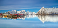 Blue Skies (Jerry Fryer) Tags: hamnoy norway arctic lofotenislands sea coast rorbuer bigstopper leefilters