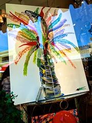 Palm Worker (LarryJay99 ) Tags: color shopwindow florida artwork palm photostream urbanstuart art iphone7plusbackdualcamera399mmf18