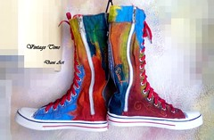 Hand Painted High Sneakers (art-store.net) Tags: sneakers womensshoes handpainted modernprint updatedmodel originaldesignmodel