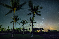 Park is closed (Traylor Photography) Tags: night lavaflow houses hawaii waikoloa fairmontorchid windy lava angle clouds trees tide ocean parkinglot coconuttree longexposure panorama light coral beach moon waimea unitedstates us