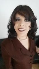 may 2017 - dinner with friends (cilii_77) Tags: crossdresser crossdressing transwgender transvestite skirt elegant pearl makeup suit dinner lipstick