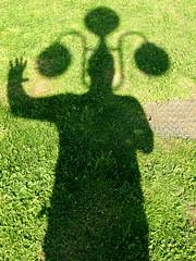 COSA MI FRULLA PER LA TESTA...!!! (Skiappa.....v.i.p. (Volentieri In Pensione)) Tags: shadow skiappa ombra prato erba verde sagoma panasonic lumix explore337