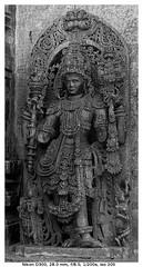 Dwaarapalaka (Sentinel) (vatsaraj) Tags: halebidu halebeedu ancient ruins temple architecture stonework stonetemple stonearchitecture hoysala hoyasala nikon d300 vatsaraj cvatsaraj sentinel