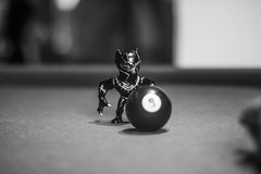 IMG_9481 (Brother Christopher) Tags: figure figurine toy toys black panther 8ball 50mm btw blackandwhite monochrome monochromatic explore indoors indoor brotherchris podcast nerd nerds geek geeks marvel civil war