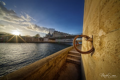 One ring to rule them all (marko.erman) Tags: paris france seine river water city cityscape urban iledelacité ilesaintlouis notredame cathedral ring anchoring couple lovers love morning light sunset sunrays sunlight architecture bridge sony wideangle uwa pov view outside perspective travel popular