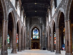 The Nave (rustyruth1959) Tags: nikon nikond3200 tamron16300mm manchester manchestercathedral nave architecture arches arch tower church religiousbuilding windows stainedglass stone columns worship westend west ceiling floor indoor