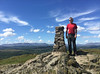 20 of 52 trig points (Ron Layters) Tags: 2017 ronlayters selfportrait 52trigpoints gummershow trigpoint lakedistrict thesuncameout clouds windy fells piecemissing vista mountains hills summit views landscape pillar tp3536 fbs5640 lakedistrictnationalpark windermere cartmelfell cumbria england unitedkingdom 52weeks 52 phonecamera iphone apple appleiphone6 selftimer tripod 10secondtimer weektwenty week20 20