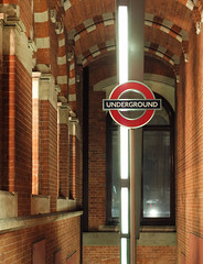 St. Pancras Underground entrance, London, England, UK (Plan R) Tags: underground metro entrance brick pancras london sign leica m 240 noctilux 50mm