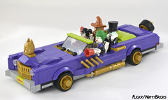 Four Seater (WattyBricks) Tags: 70906 the joker notorious low rider modification lego minifigures rogues batman gotham penguin oswald cobblepot scarecrow doctor jonathan crane clown prince princess crime harley harleen quinn quinzel