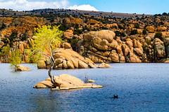 Interesting Lake (seajon1) Tags: watson lake prescott arizona boulders blue