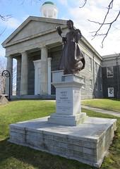 Barnstable County Courthouse and Mercy Otis Warren Monument (Barnstable, Massachusetts) (courthouselover) Tags: massachusetts ma courthouseextras barnstablecounty barnstabletown barnstable statues mercyotiswarren newengland northamerica unitedstates us