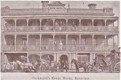 Cockbaine's Royal Hotel, Bathurst, N.S.W. - 1906 (Aussie~mobs) Tags: royalhotel bathurst vintage australia cockbaine 1906 josephwetheralcockbaine hansom cab sulky expensive
