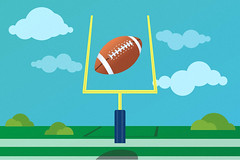 football flying through the goal post (franchiseopportunitiesphotos) Tags: sports illustration football goal pigskin fun game recreation ball play exercise