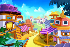 Creative Illustration and Innovative Art: Cartoon Town. Realistic Fantastic Cartoon Style Artwork Scene, Wallpaper, Story Background, Card Design (wallmistwallpaper) Tags: adorable art artwork background book building cabin card cartoon character child city clip cloud collage concept cottage cover cute day design drawing fairy fantastic fine game grass greeting happy house illustration imaginary kid land landscape magical paint postcard scene sky sticker story tale town village wallpaper whimsical wish wood world