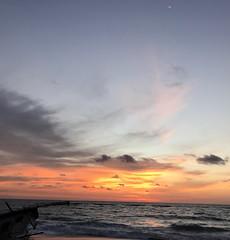 (Ellel.M) Tags: horizon sand shore waves wave iphonography boat nofilter dehiwala srilanka lka crescent moon sky blue orange sun sunset yellow black grey white dark cloud clouds nature tropical beach sea ocean indianocean island likeapainting wonderofasia