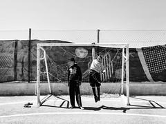 Zaatari refugee camp, Jordan-Syria border. (Federico Verani) Tags: zaatari jordan refugeecamp refugeescrisis refugees football syria syrian documentary photography blackwhite biancoenero noirblanc schwarzweise blancoynegro street bw blackandwhite middleeast conflict crisis border war