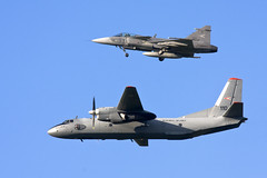 An-26 and JAS39 Hungary (Rob Schleiffert) Tags: hungarianairforce kecskemet an26 jas39 gripen