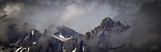 Peña Vieja entre nubes desde el Coriscao/ Peña Vieja peak. View from Coriscao peak, Picos de Europa National Park, Cantabria, Spain