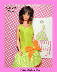 Happy Mother's Day (The doll keeper) Tags: vintage mod tnt barbie brunette hair hairfair mothersday ooak bow dress