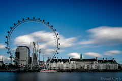 London Eye (Daniel Coyle) Tags: londoneye londoneyeandcountyhall cocacolalondoneye shellbuilding river thames riverthames water longexposure london clouds blur centrallondon nikon nikond7100 d7100 danielcoyle